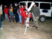 Előadás és távcsöves bemutatás Őriszentpéteren az Őrségi Nemzeti Park Erdei Iskolájában a PHARE CBC projekt keretében.