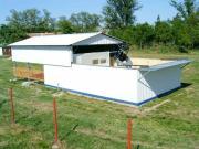 A csillagvizsgáló épülete (lehúzott tetővel), benne az 50 cm-es teleszkóp.