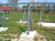 A letolható tető tartólábai is a helyükre kerültek (2005- április 15.)