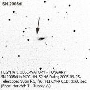 Szupernova felvételek az 50 cm-es Ritchey-Chrétien távcsővel.