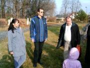 Magyar-szlovén-szlovák-osztrák szakmai tapasztalatcsere megbeszélés a Szlovák Központi Csillagvizsgálóban Hurbanovón, 2005. december 10-én.