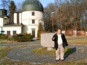 Magyar-szlovén-szlovák-osztrák szakmai tapasztalatcsere megbeszélés a Szlovák Központi Csillagvizsgálóban Hurbanovón, 2005. december 10-én. Pintér Péter igazgató.