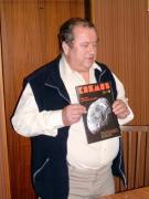 Magyar-szlovén-szlovák-osztrák szakmai tapasztalatcsere megbeszélés a Szlovák Központi Csillagvizsgálóban Hurbanovón, 2005. december 10-én. Pintér Péter igazgató a csillagvizsgáló